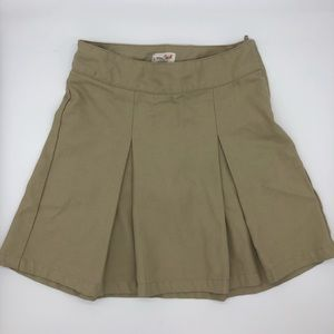 Cat & Jack girls khaki uniform skirt S7